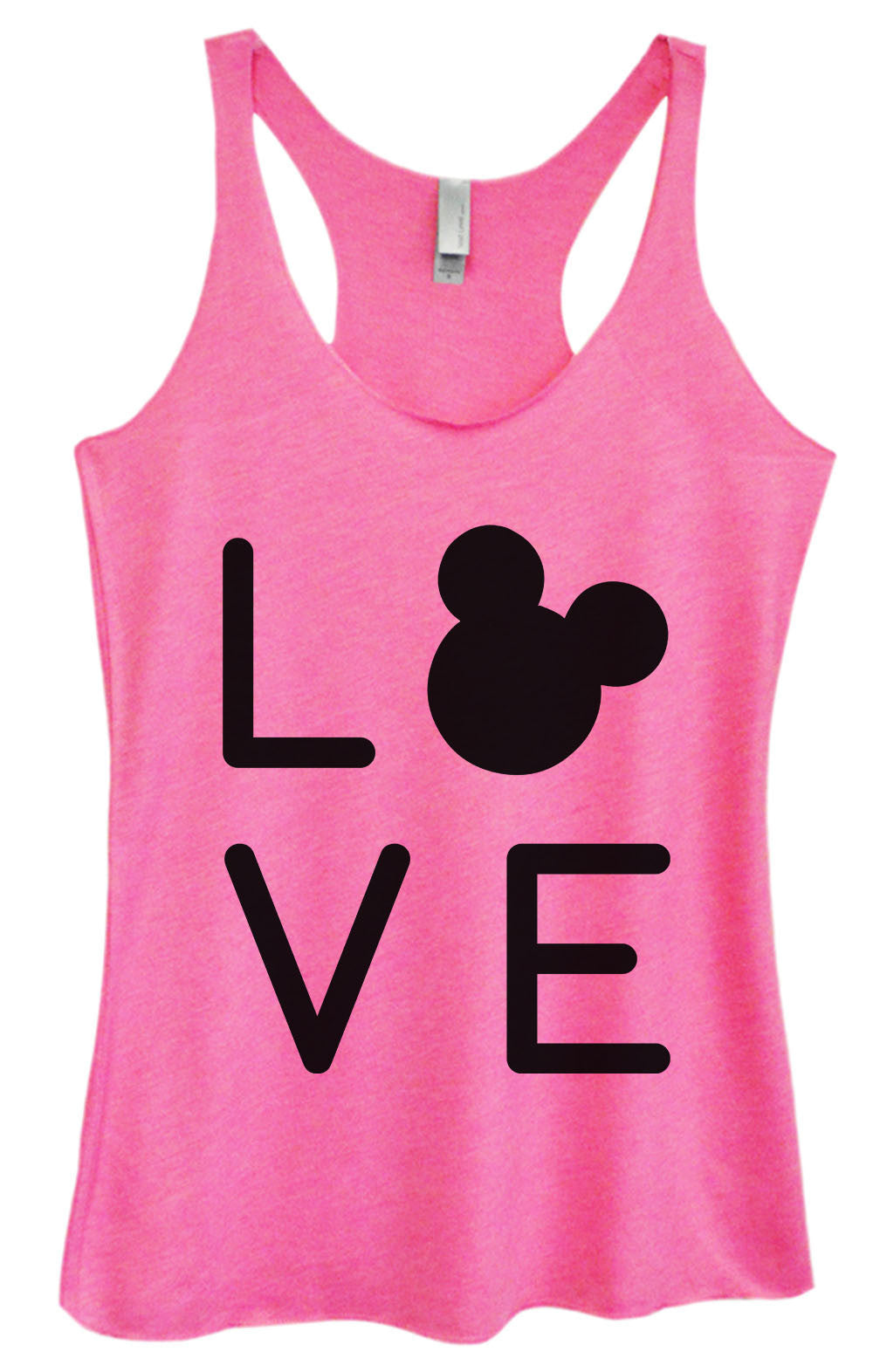 Womens Fashion Triblend Tank Top - Love - Tri-1574 - Funny Shirts Tank Tops Burnouts and Triblends  - 4