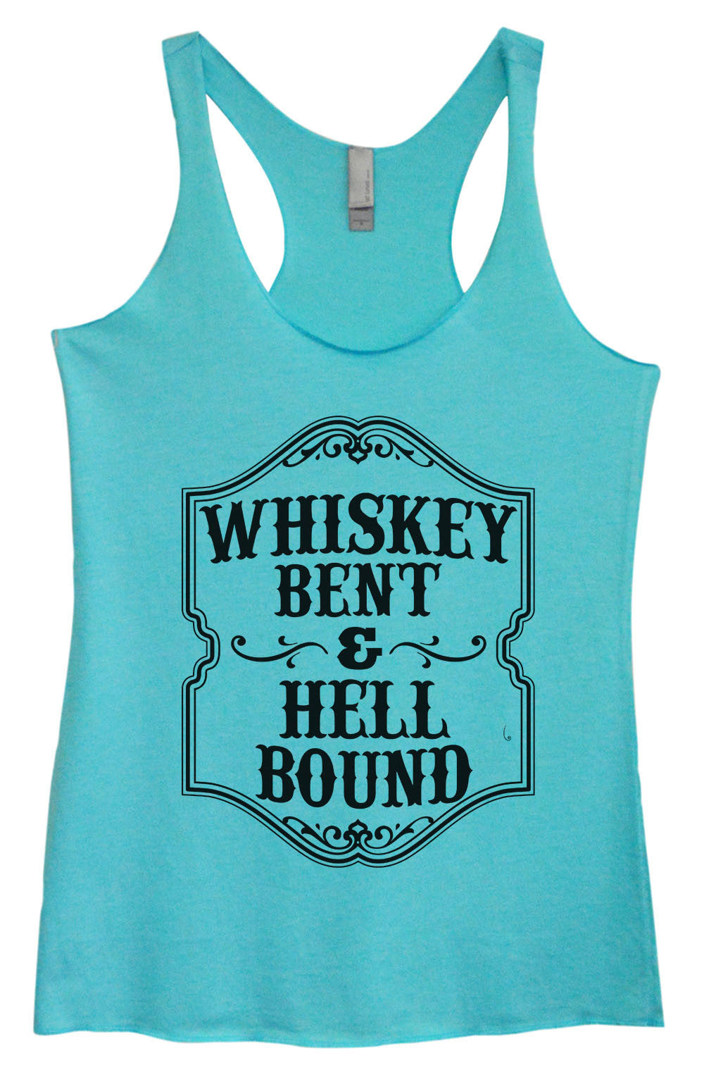 Womens Fashion Triblend Tank Top - Whiskey Bent & Hell Bound - Tri-1579 - Funny Shirts Tank Tops Burnouts and Triblends  - 4