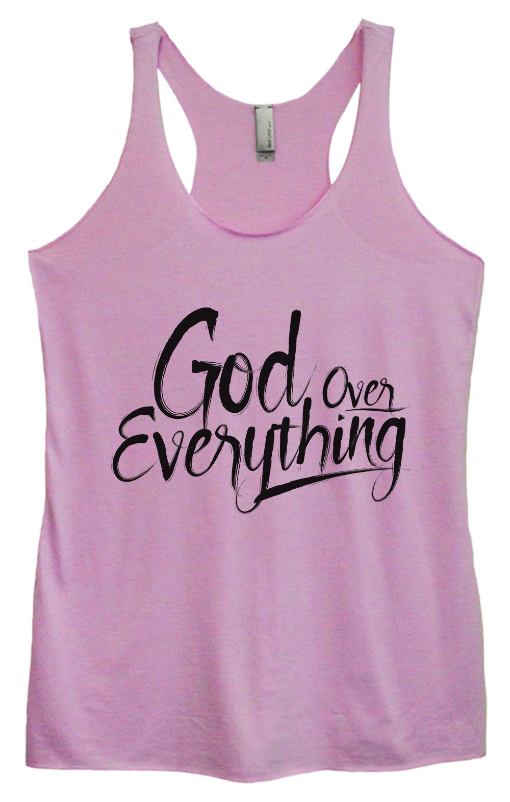 Womens Fashion Triblend Tank Top - God Everything Over - Tri-1588 - Funny Shirts Tank Tops Burnouts and Triblends  - 4