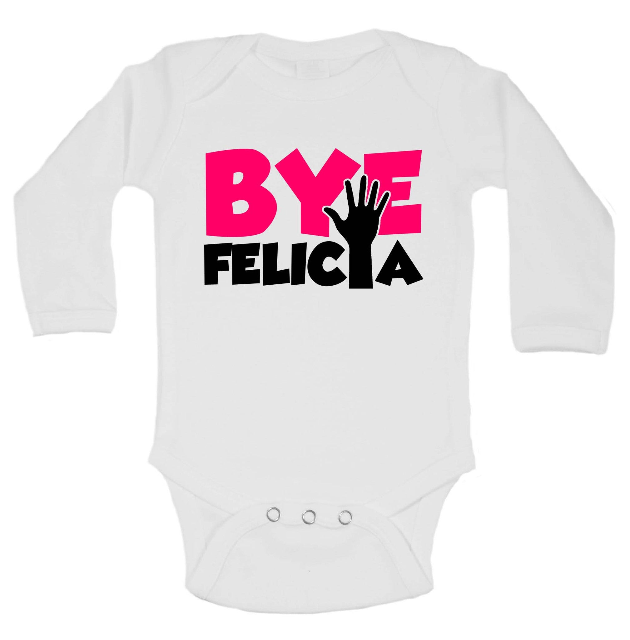 Bye Felica Funny Kids Onesie - 175 - Funny Shirts Tank Tops Burnouts and Triblends  - 1