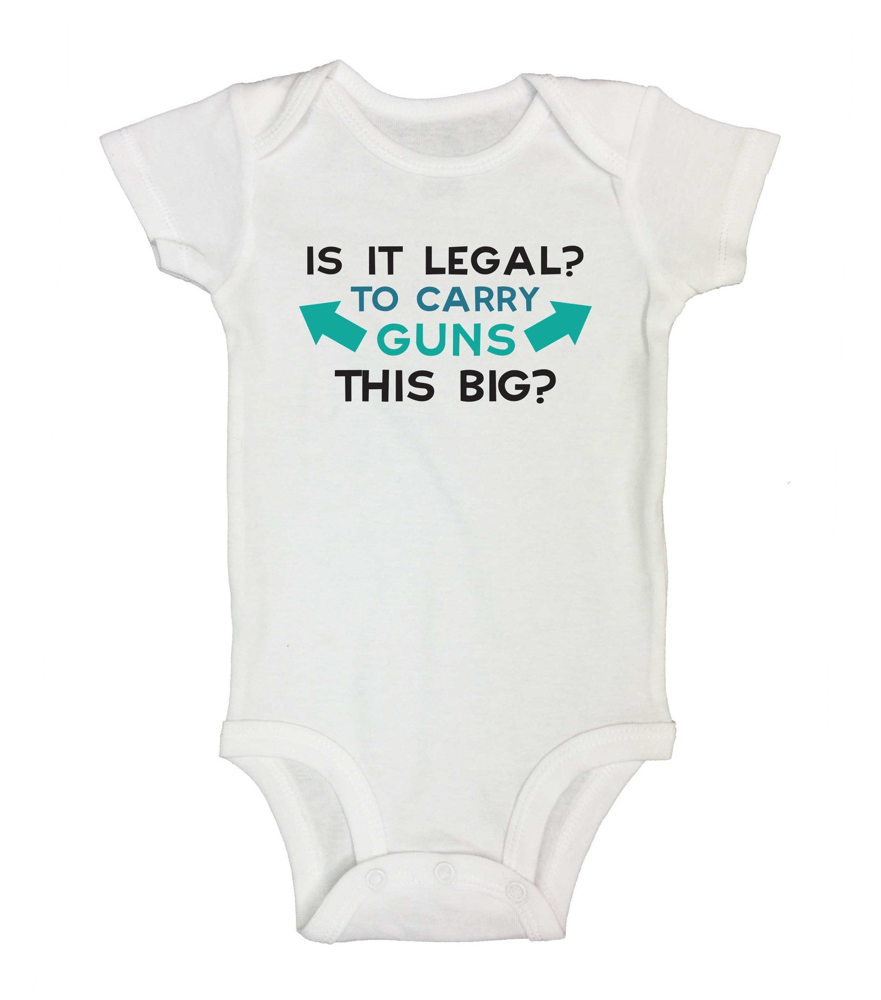 Is It Legal? To Carry Guns This Big? Funny Kids Onesie - 179 - Funny Shirts Tank Tops Burnouts and Triblends  - 2