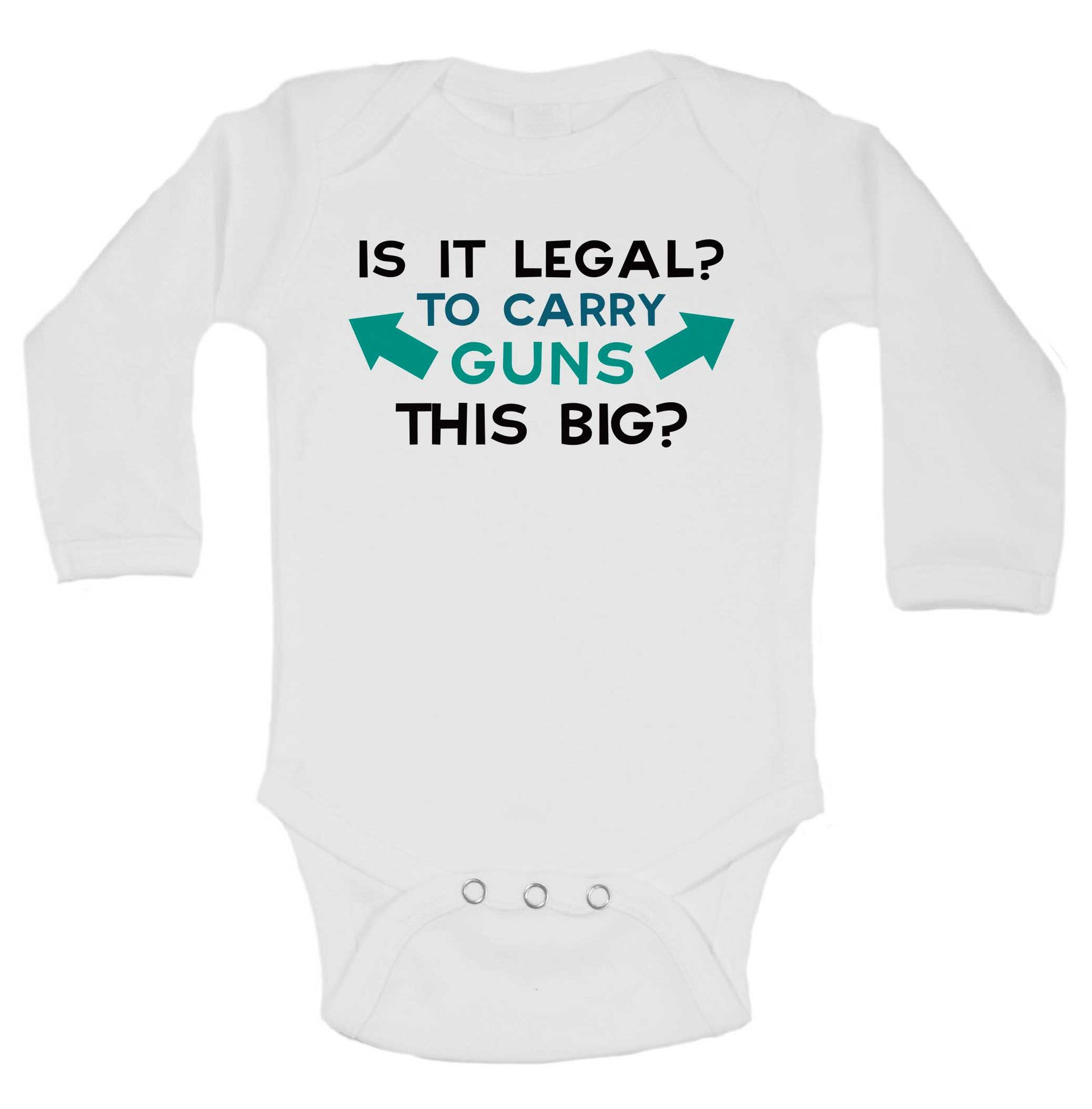 Is It Legal? To Carry Guns This Big? Funny Kids Onesie - 179 - Funny Shirts Tank Tops Burnouts and Triblends  - 1