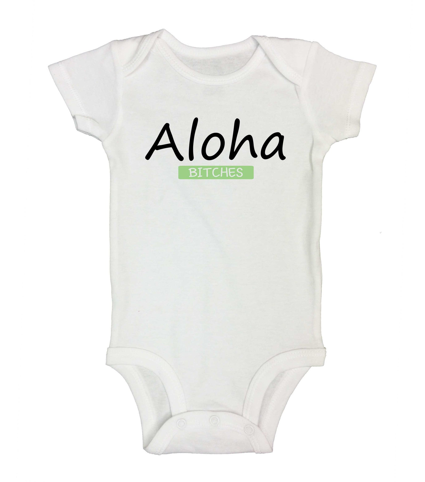 Aloha Bitches Funny Kids Onesie - 181 - Funny Shirts Tank Tops Burnouts and Triblends  - 2