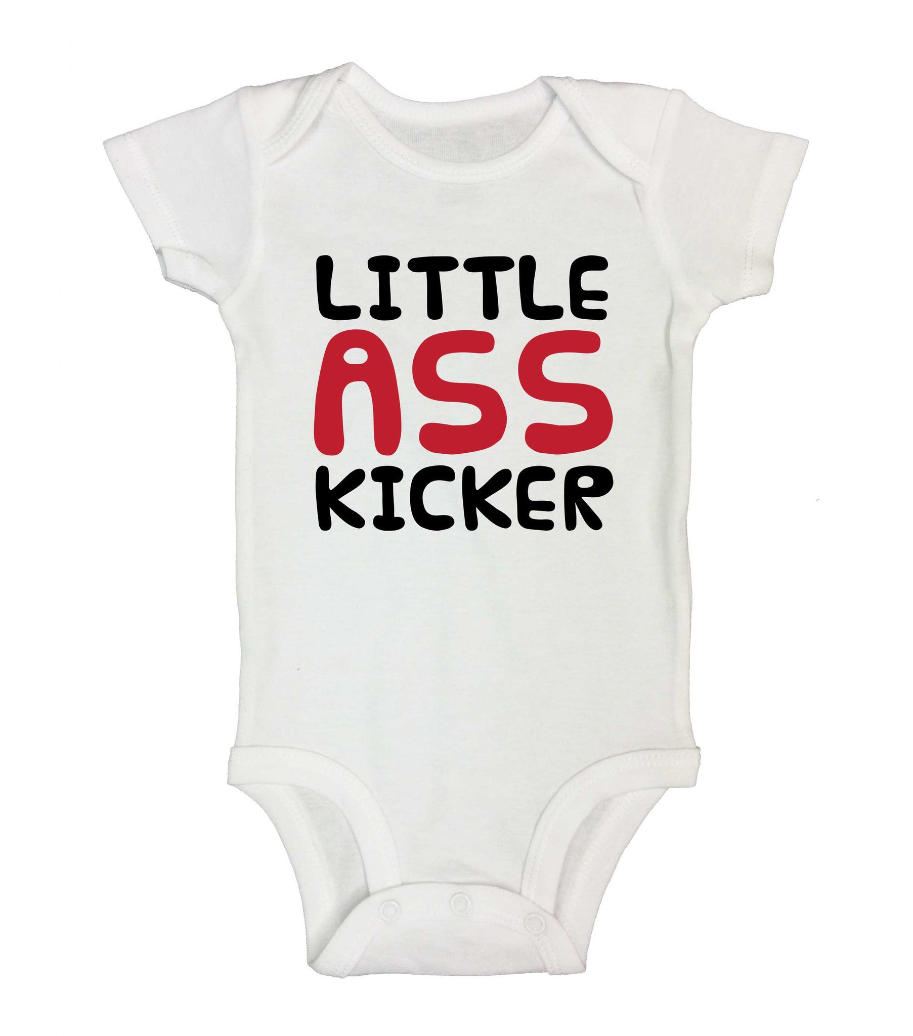 Little Ass Kicker Funny Kids Onesie - 184 - Funny Shirts Tank Tops Burnouts and Triblends  - 2