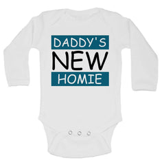 Daddy'S New Homie Funny Kids Onesie - 185 - Funny Shirts Tank Tops Burnouts and Triblends  - 1