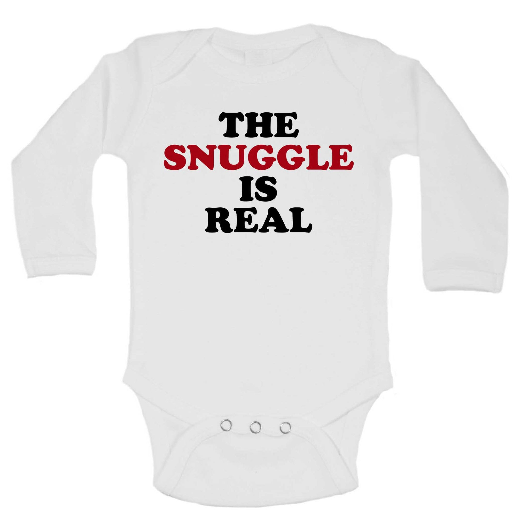 The Snuggle Is Real Funny Kids Onesie - 187 - Funny Shirts Tank Tops Burnouts and Triblends  - 1