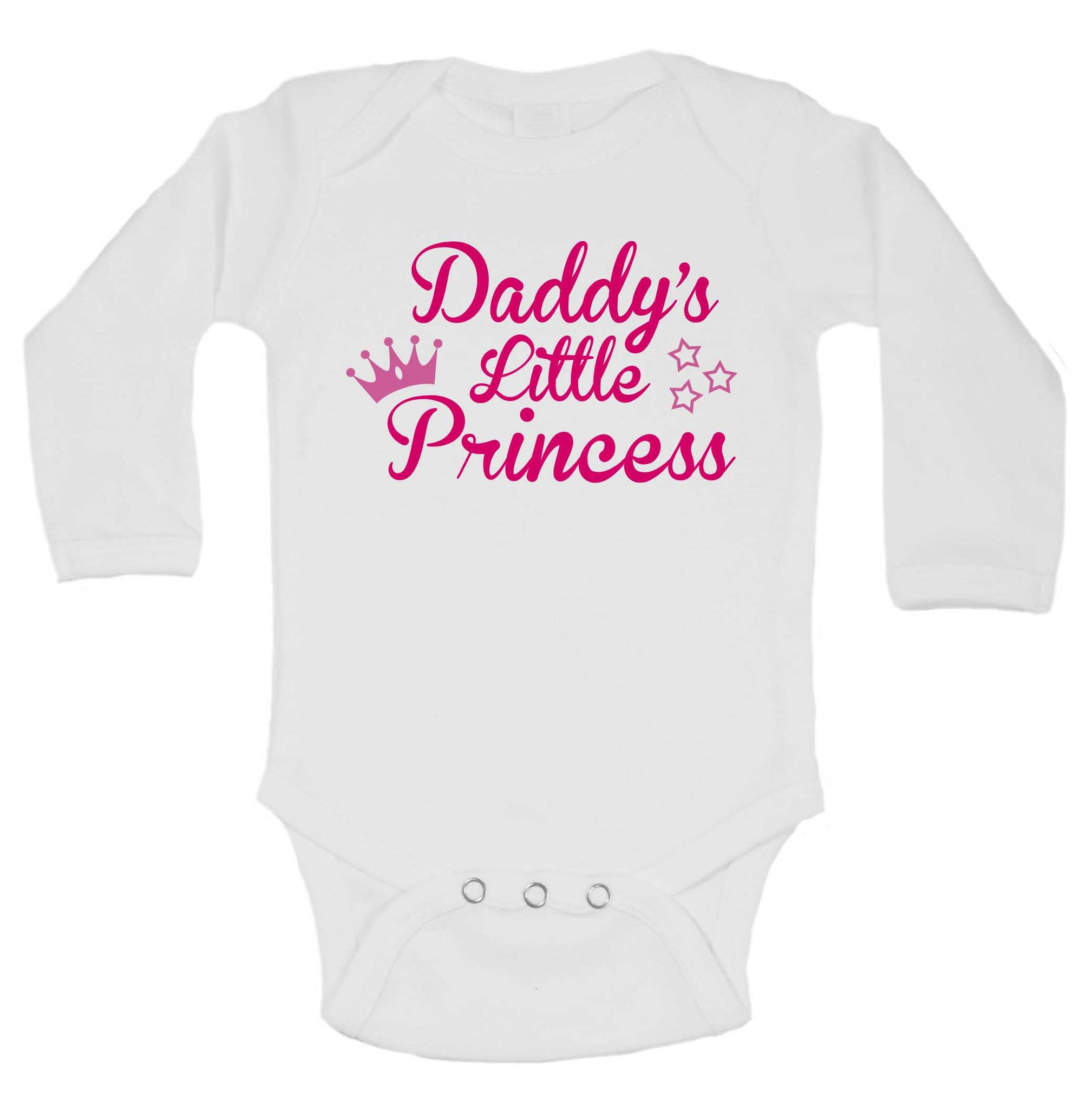 Daddy's Little Princess Funny Kids Onesie - 190 - Funny Shirts Tank Tops Burnouts and Triblends  - 1
