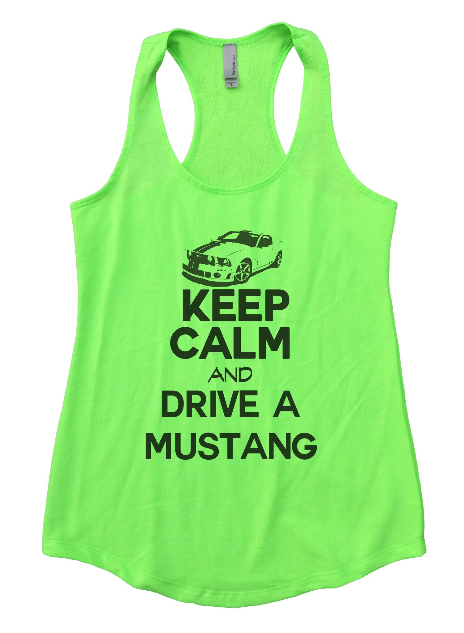 Keep Calm And Drive A Mustang Womens Workout Tank Top 2119 - Funny Shirts Tank Tops Burnouts and Triblends  - 1