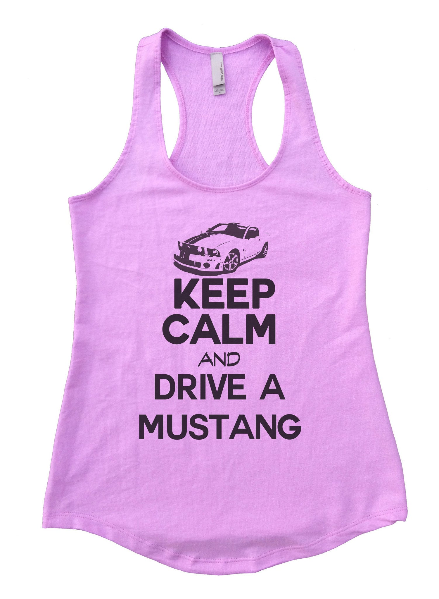 Keep Calm And Drive A Mustang Womens Workout Tank Top 2119 - Funny Shirts Tank Tops Burnouts and Triblends  - 5