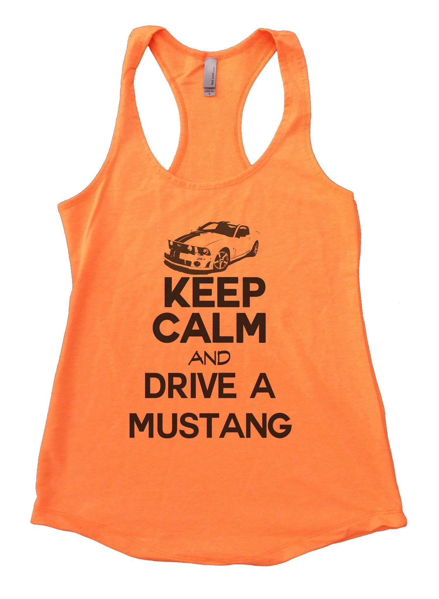 Keep Calm And Drive A Mustang Womens Workout Tank Top 2119 - Funny Shirts Tank Tops Burnouts and Triblends  - 6