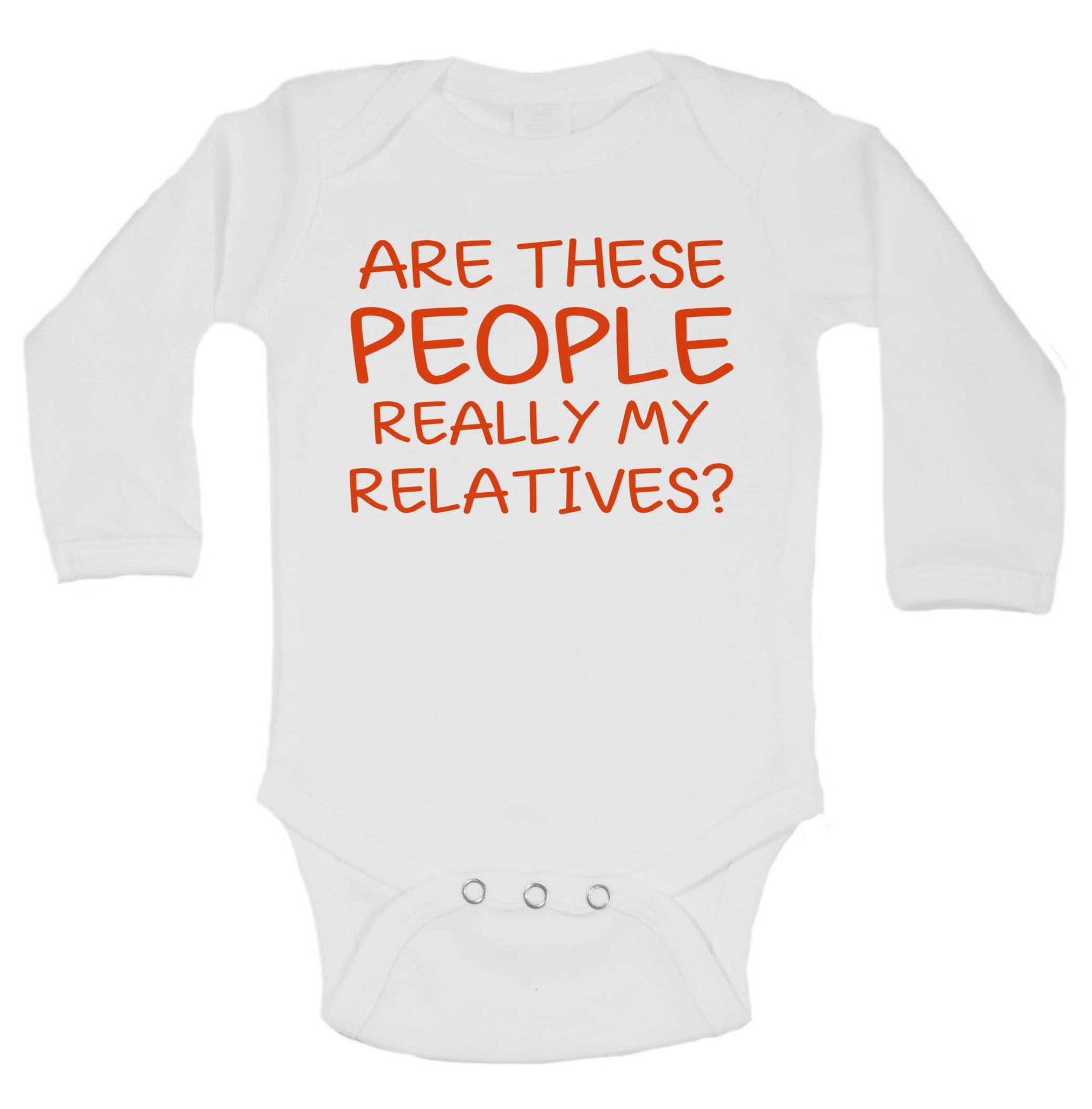 Are These People Really My Relatives? Funny Kids Onesie - 218 - Funny Shirts Tank Tops Burnouts and Triblends  - 1