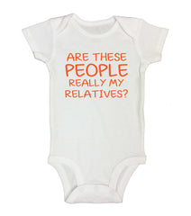 Are These People Really My Relatives? Funny Kids Onesie - 218 - Funny Shirts Tank Tops Burnouts and Triblends  - 2