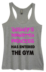 Womens Fashion Triblend Tank Top - Disney's Forgotten Princess Has Entered The Gym - Tri-528 - Funny Shirts Tank Tops Burnouts and Triblends  - 2