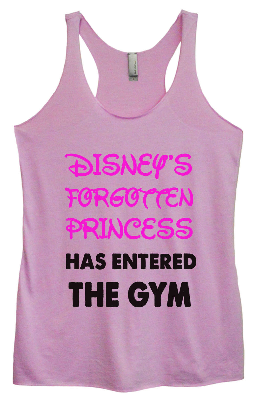 Womens Fashion Triblend Tank Top - Disney's Forgotten Princess Has Entered The Gym - Tri-528 - Funny Shirts Tank Tops Burnouts and Triblends  - 1