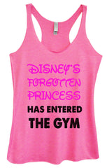 Womens Fashion Triblend Tank Top - Disney's Forgotten Princess Has Entered The Gym - Tri-528 - Funny Shirts Tank Tops Burnouts and Triblends  - 4
