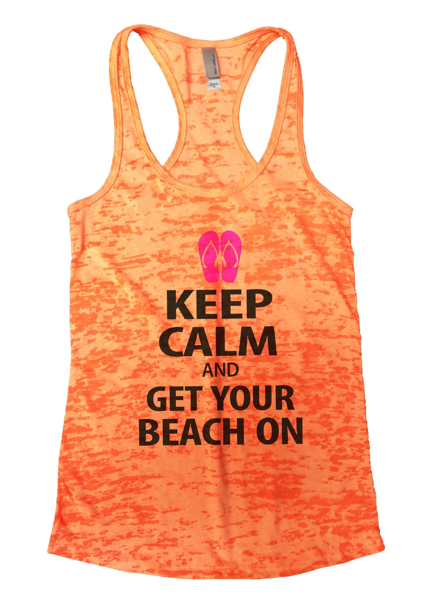 Keep Calm And Get Your Beach On Burnout Tank Top By BurnoutTankTops.com - 550 - Funny Shirts Tank Tops Burnouts and Triblends  - 3