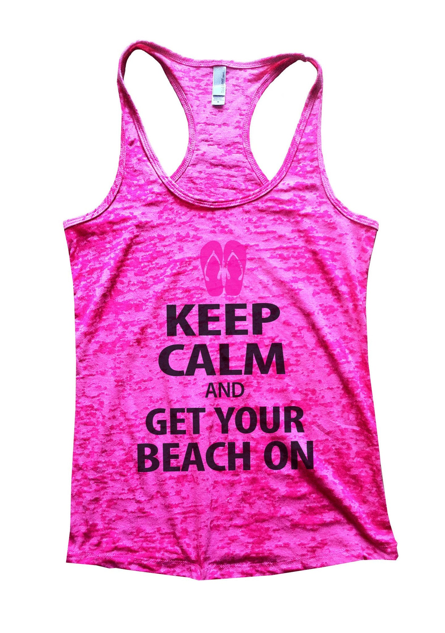 Keep Calm And Get Your Beach On Burnout Tank Top By BurnoutTankTops.com - 550 - Funny Shirts Tank Tops Burnouts and Triblends  - 5