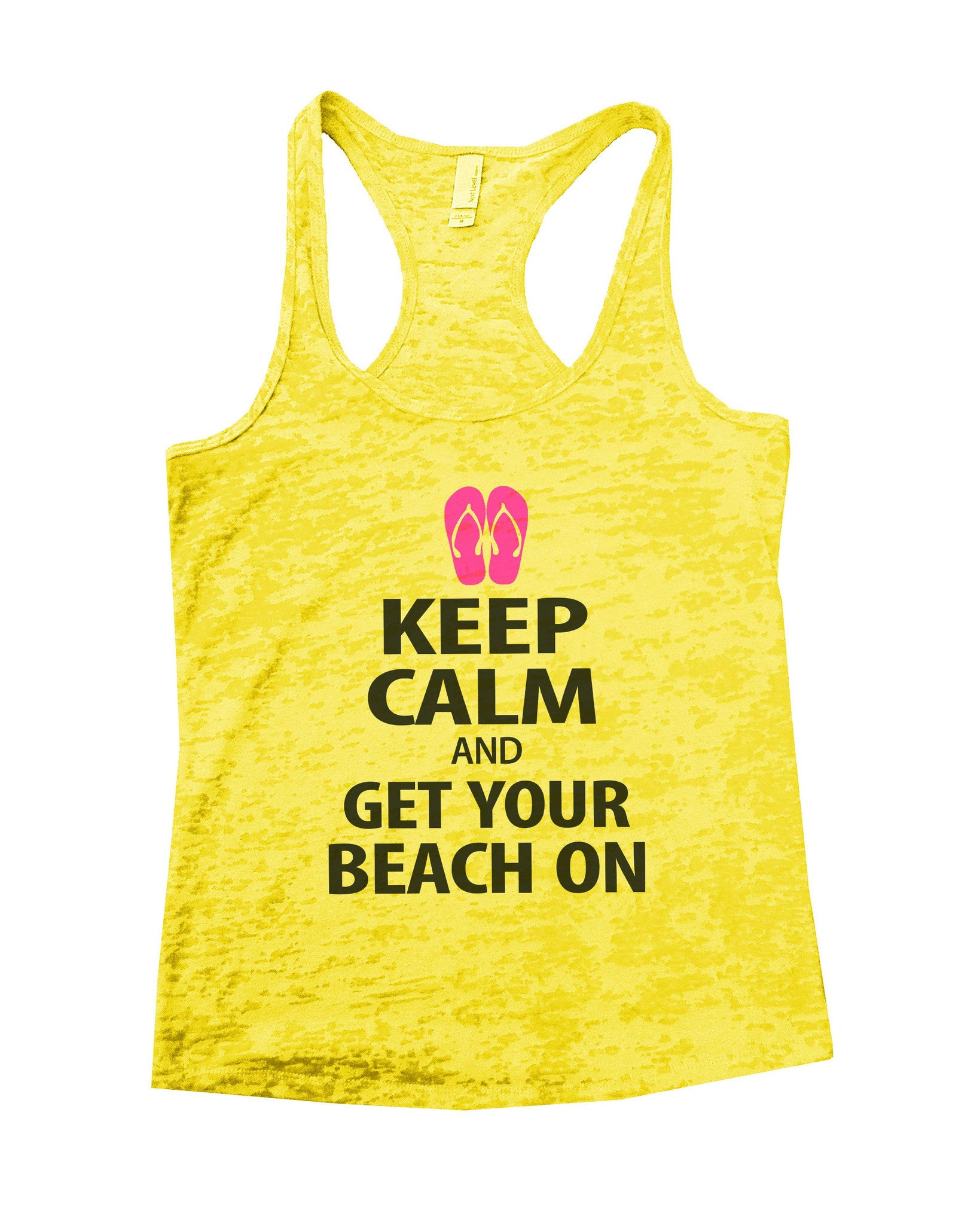 Keep Calm And Get Your Beach On Burnout Tank Top By BurnoutTankTops.com - 550 - Funny Shirts Tank Tops Burnouts and Triblends  - 7