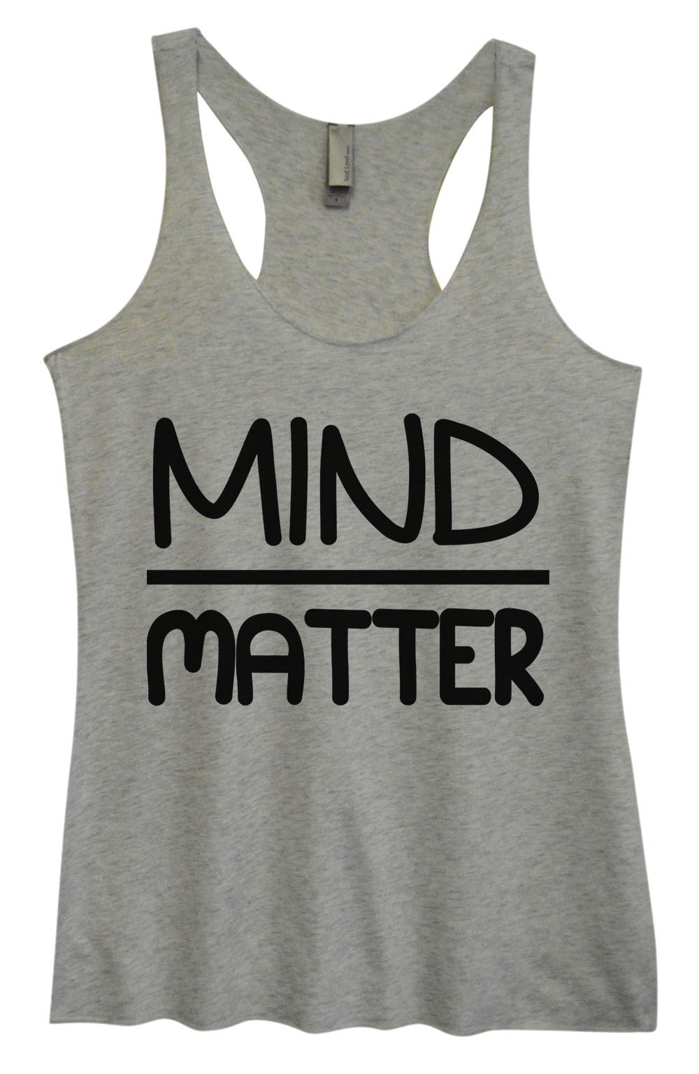 Womens Fashion Triblend Tank Top - Mind Matter - Tri-555 - Funny Shirts Tank Tops Burnouts and Triblends  - 2