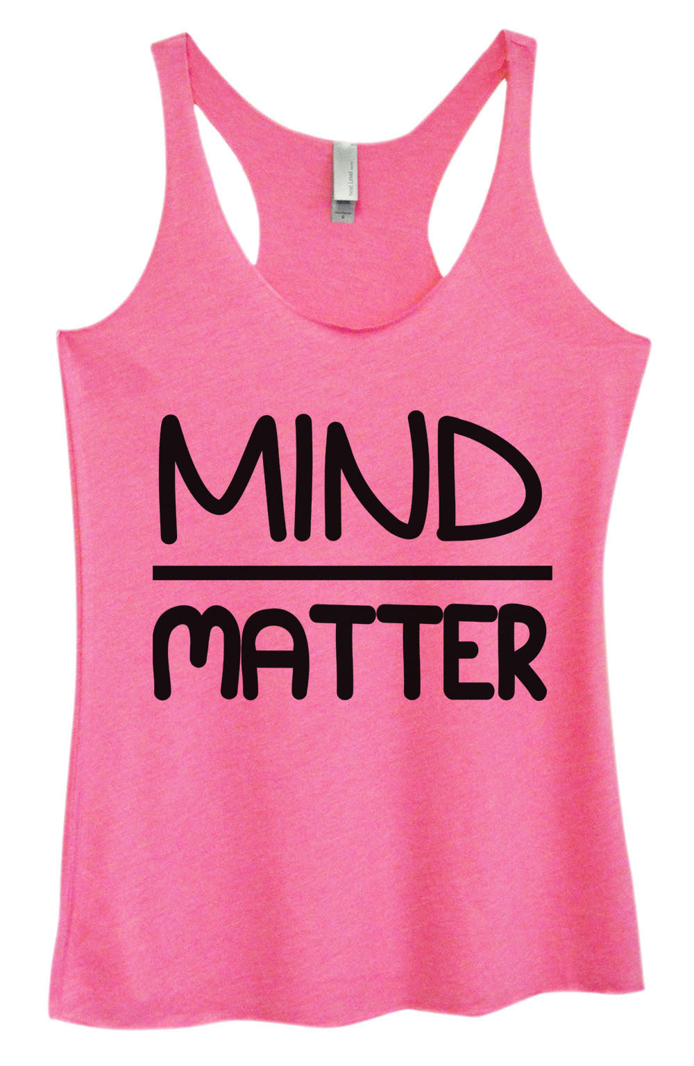 Womens Fashion Triblend Tank Top - Mind Matter - Tri-555 - Funny Shirts Tank Tops Burnouts and Triblends  - 3