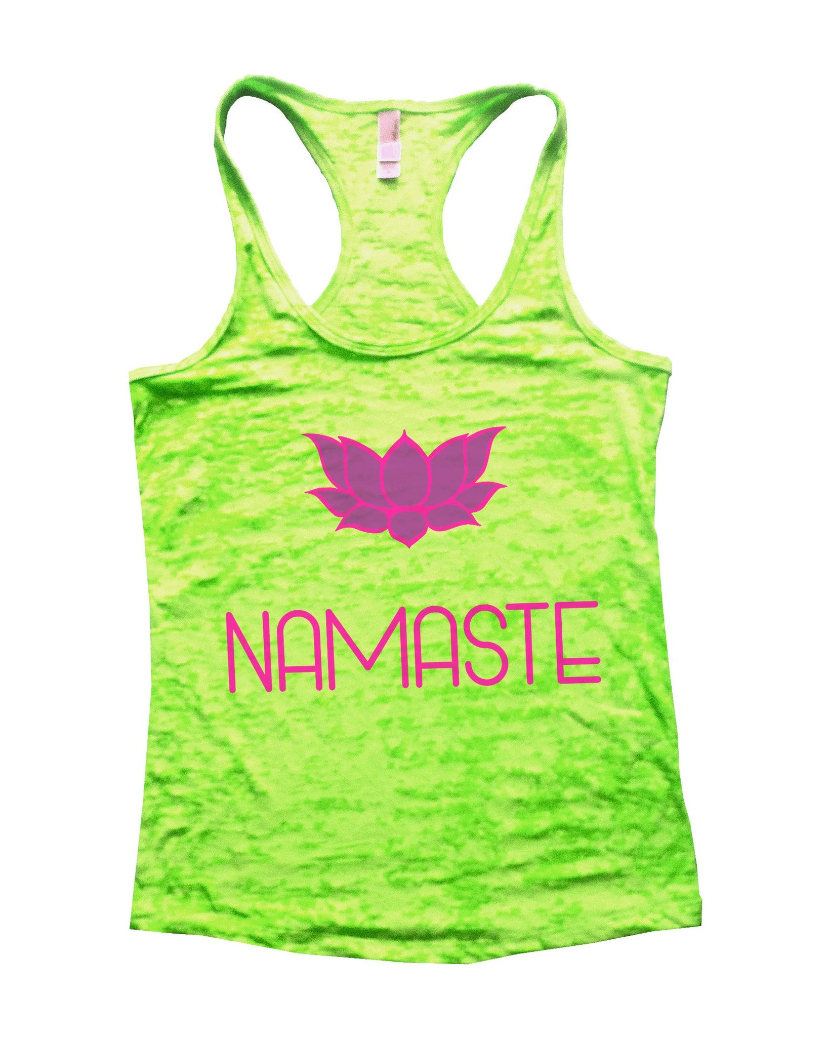 Namaste Burnout Tank Top By BurnoutTankTops.com - 631 - Funny Shirts Tank Tops Burnouts and Triblends  - 3