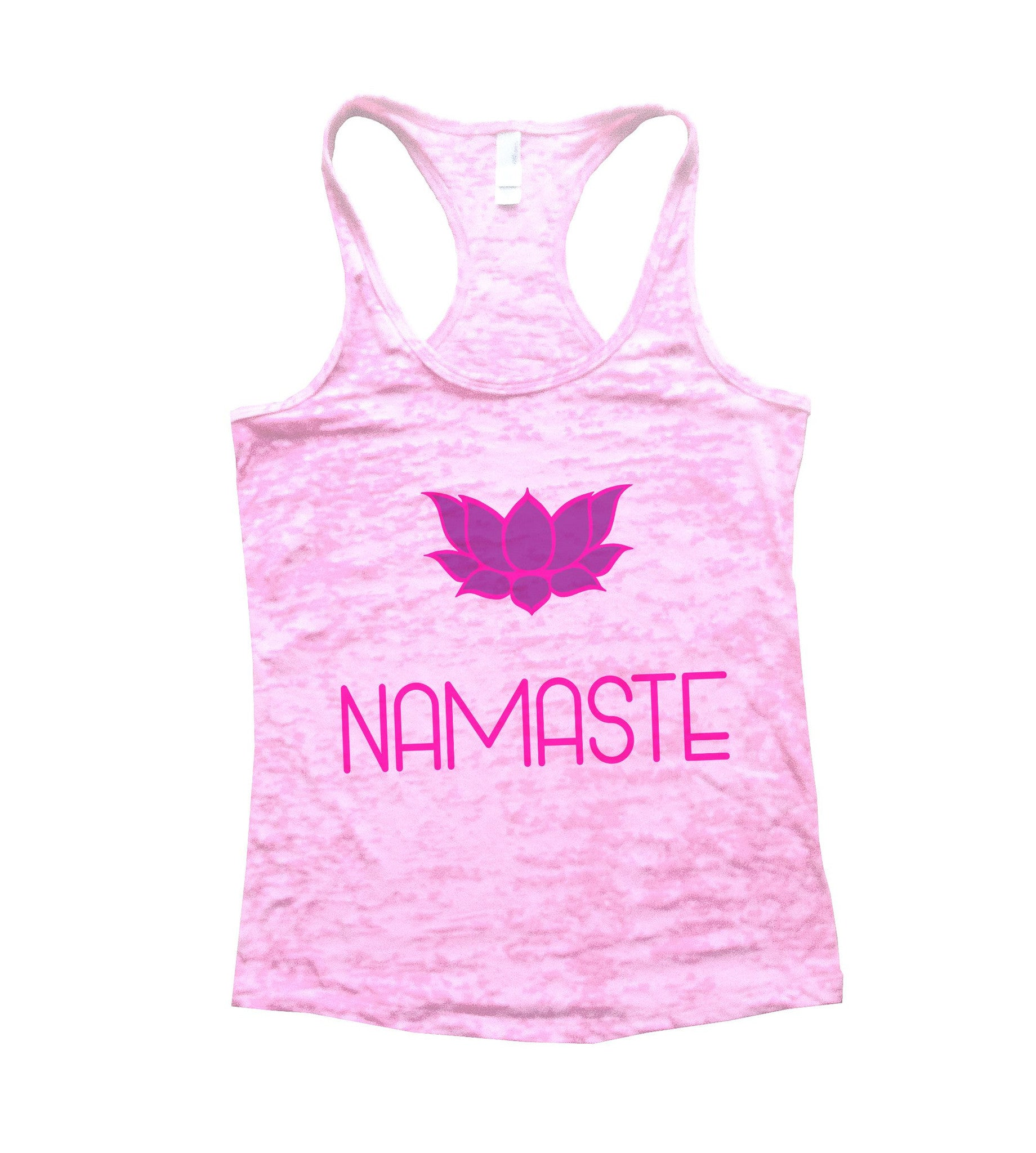 Namaste Burnout Tank Top By BurnoutTankTops.com - 631 - Funny Shirts Tank Tops Burnouts and Triblends  - 4