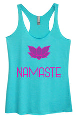 Womens Fashion Triblend Tank Top - Namaste - Tri-631 - Funny Shirts Tank Tops Burnouts and Triblends  - 4