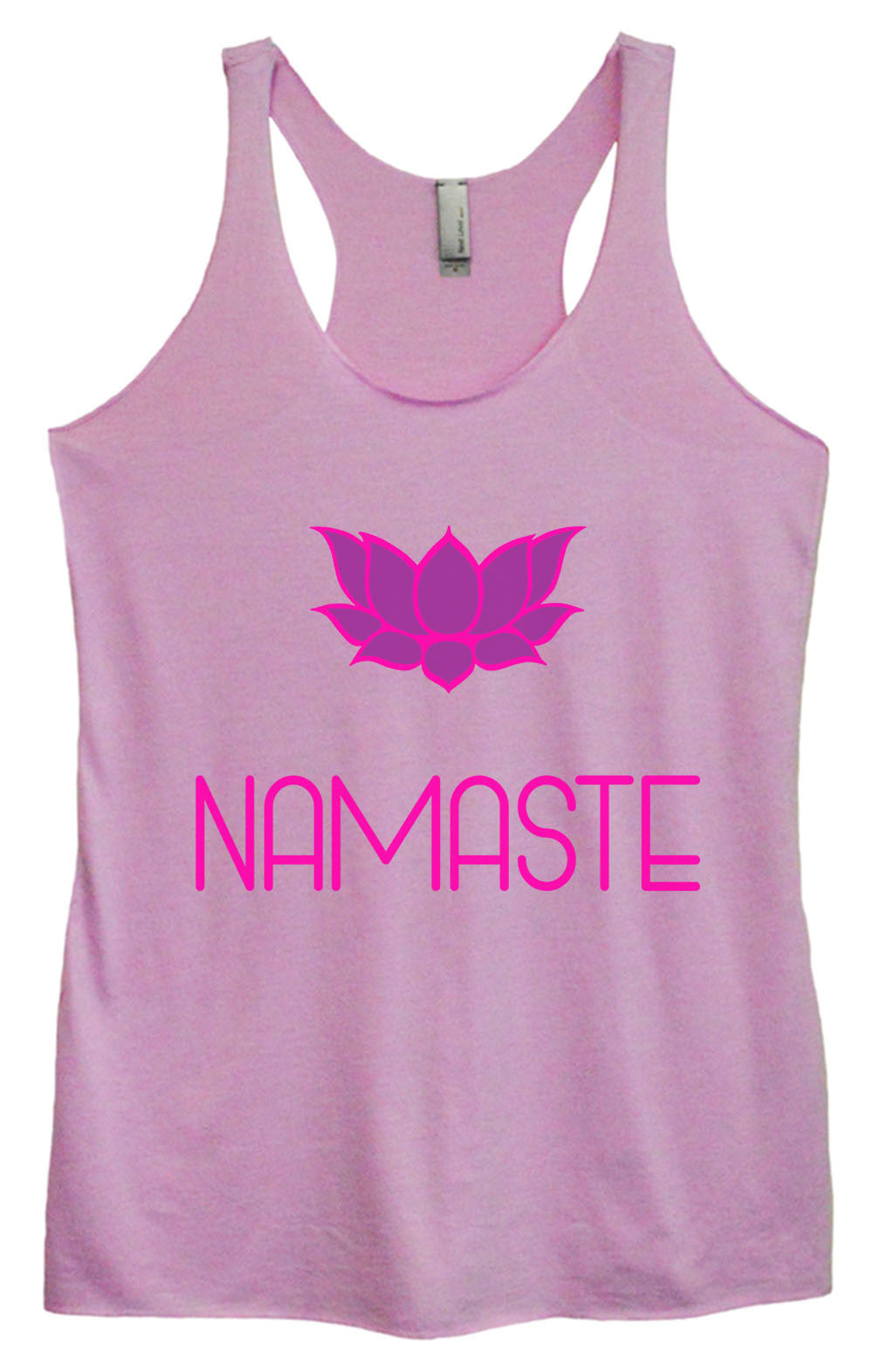 Womens Fashion Triblend Tank Top - Namaste - Tri-631 - Funny Shirts Tank Tops Burnouts and Triblends  - 3