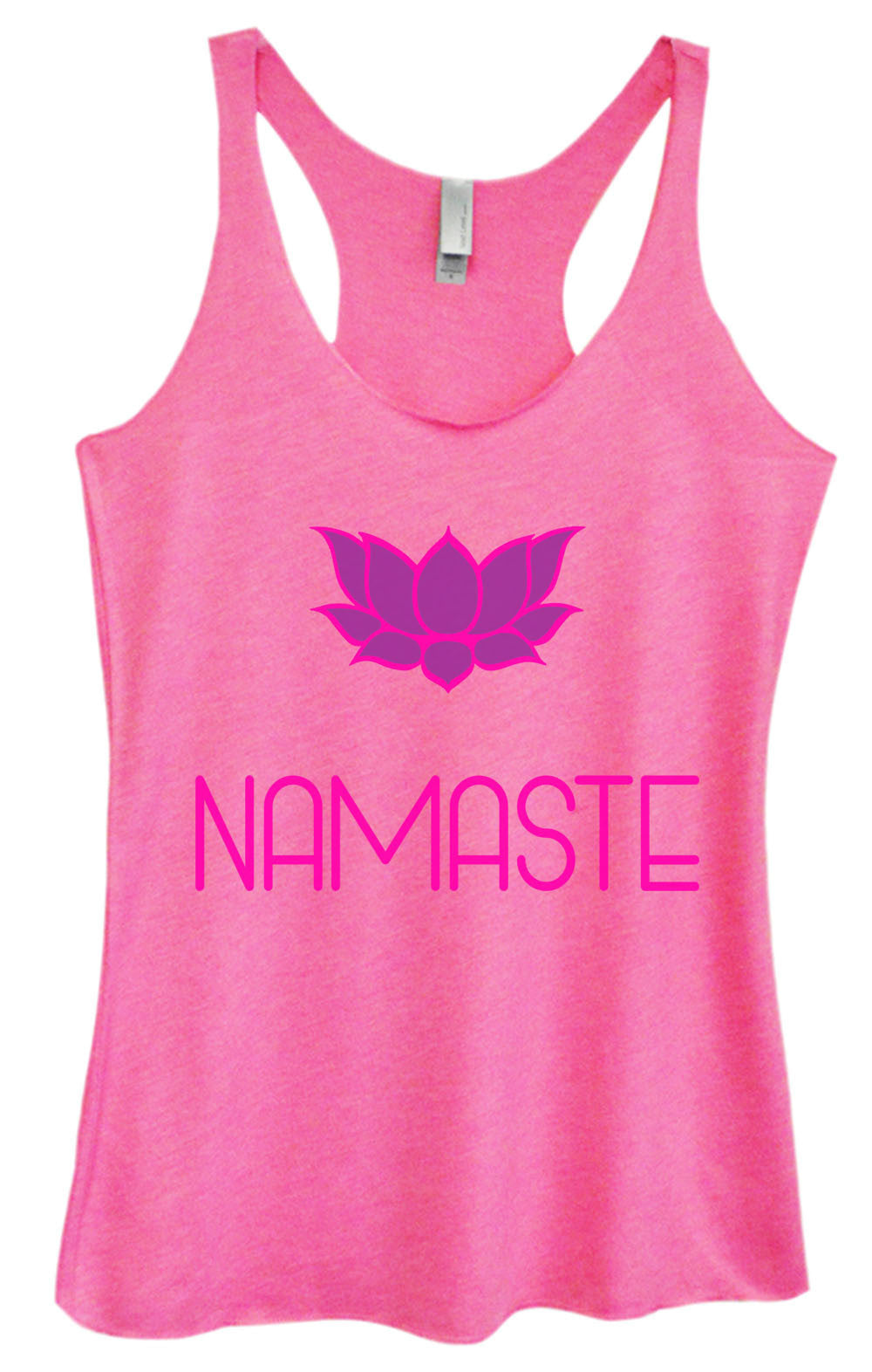 Womens Fashion Triblend Tank Top - Namaste - Tri-631 - Funny Shirts Tank Tops Burnouts and Triblends  - 1