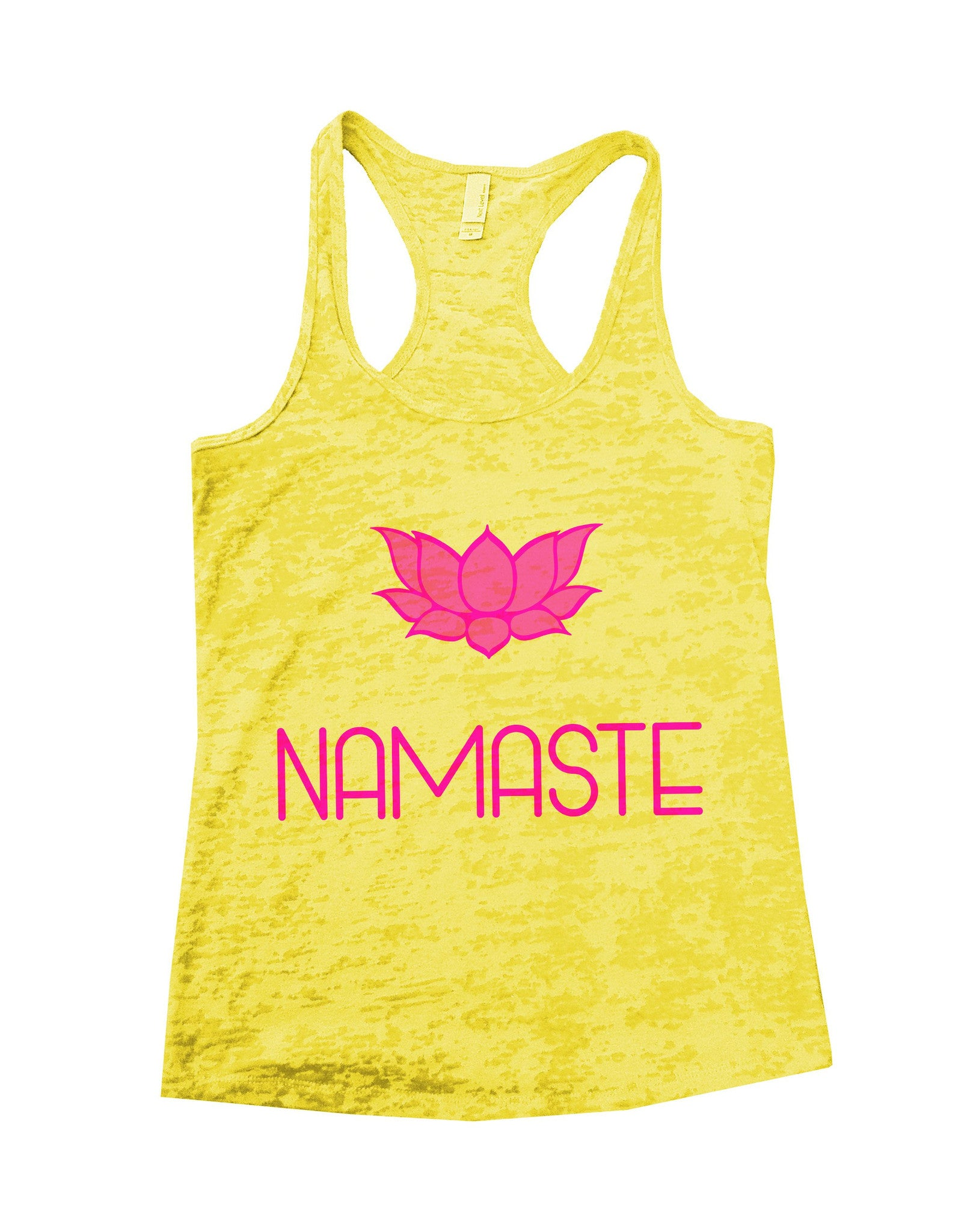 Namaste Burnout Tank Top By BurnoutTankTops.com - 631 - Funny Shirts Tank Tops Burnouts and Triblends  - 1