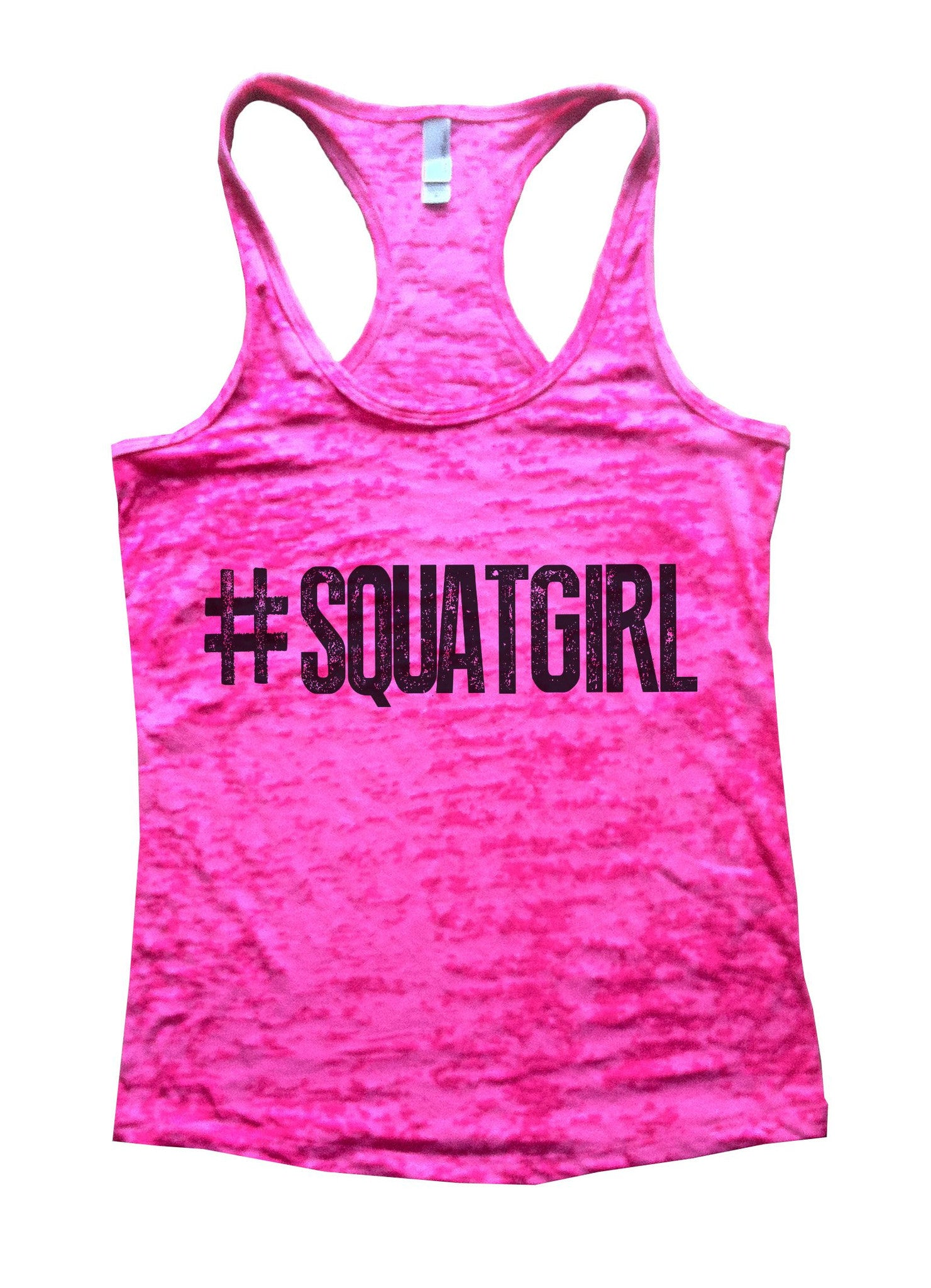SquatGirl Burnout Tank Top By BurnoutTankTops.com - 637 - Funny Shirts Tank Tops Burnouts and Triblends  - 4