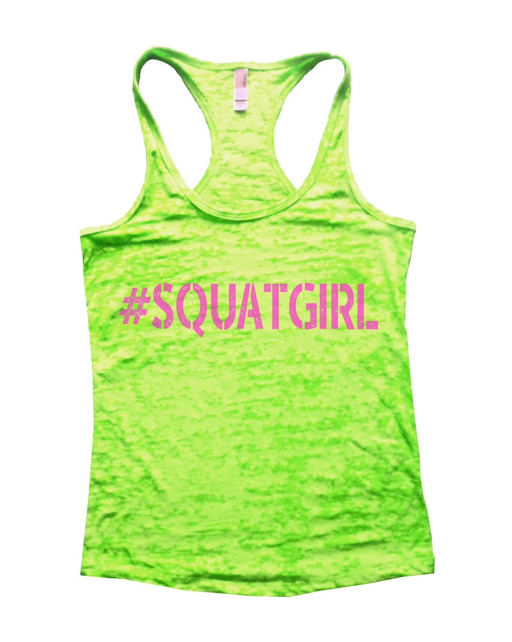 SquatGirl Burnout Tank Top By BurnoutTankTops.com - 637 - Funny Shirts Tank Tops Burnouts and Triblends  - 5