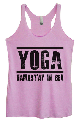 Womens Fashion Triblend Tank Top - Yoga Namastay In Bed - Tri-649 - Funny Shirts Tank Tops Burnouts and Triblends  - 1