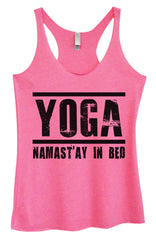 Womens Fashion Triblend Tank Top - Yoga Namastay In Bed - Tri-649 - Funny Shirts Tank Tops Burnouts and Triblends  - 4
