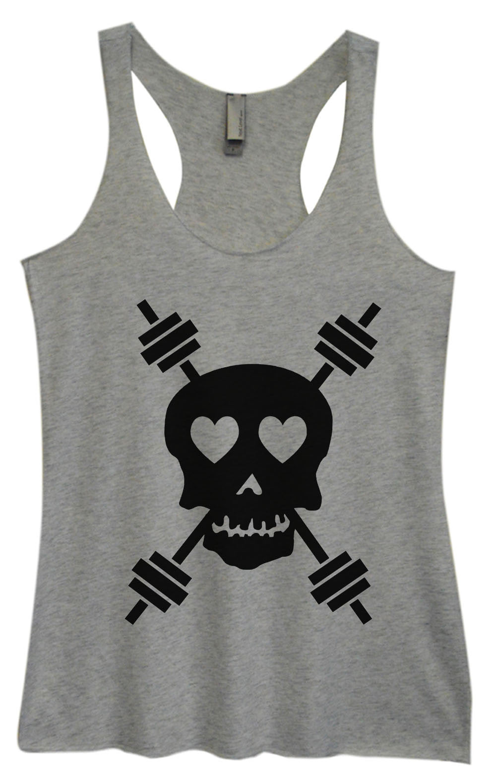 Womens Fashion Triblend Tank Top - Skull - Tri-653 - Funny Shirts Tank Tops Burnouts and Triblends  - 1