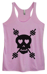 Womens Fashion Triblend Tank Top - Skull - Tri-653 - Funny Shirts Tank Tops Burnouts and Triblends  - 3