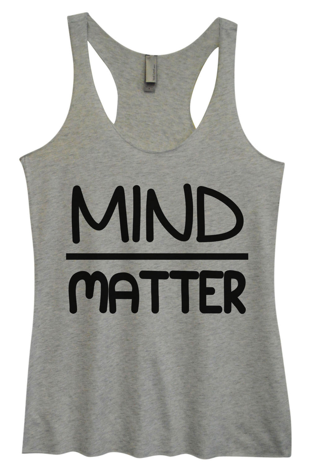 Womens Fashion Triblend Tank Top - Mind Matter - Tri-655 - Funny Shirts Tank Tops Burnouts and Triblends  - 2