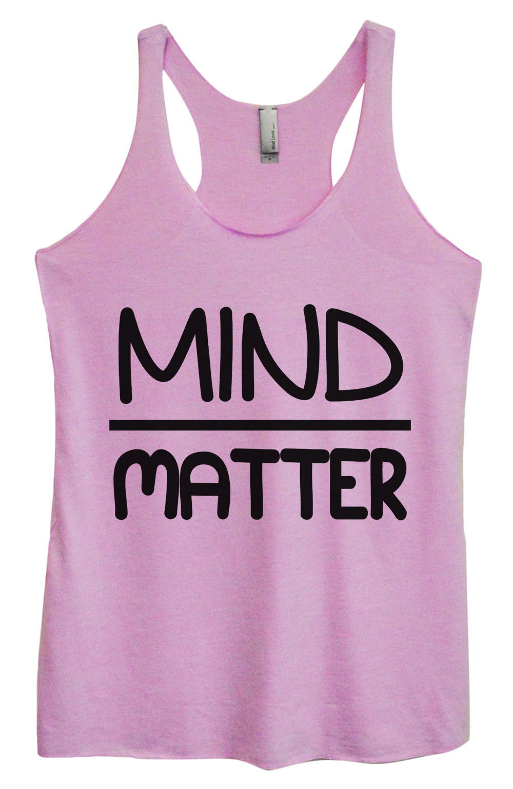 Womens Fashion Triblend Tank Top - Mind Matter - Tri-655 - Funny Shirts Tank Tops Burnouts and Triblends  - 1