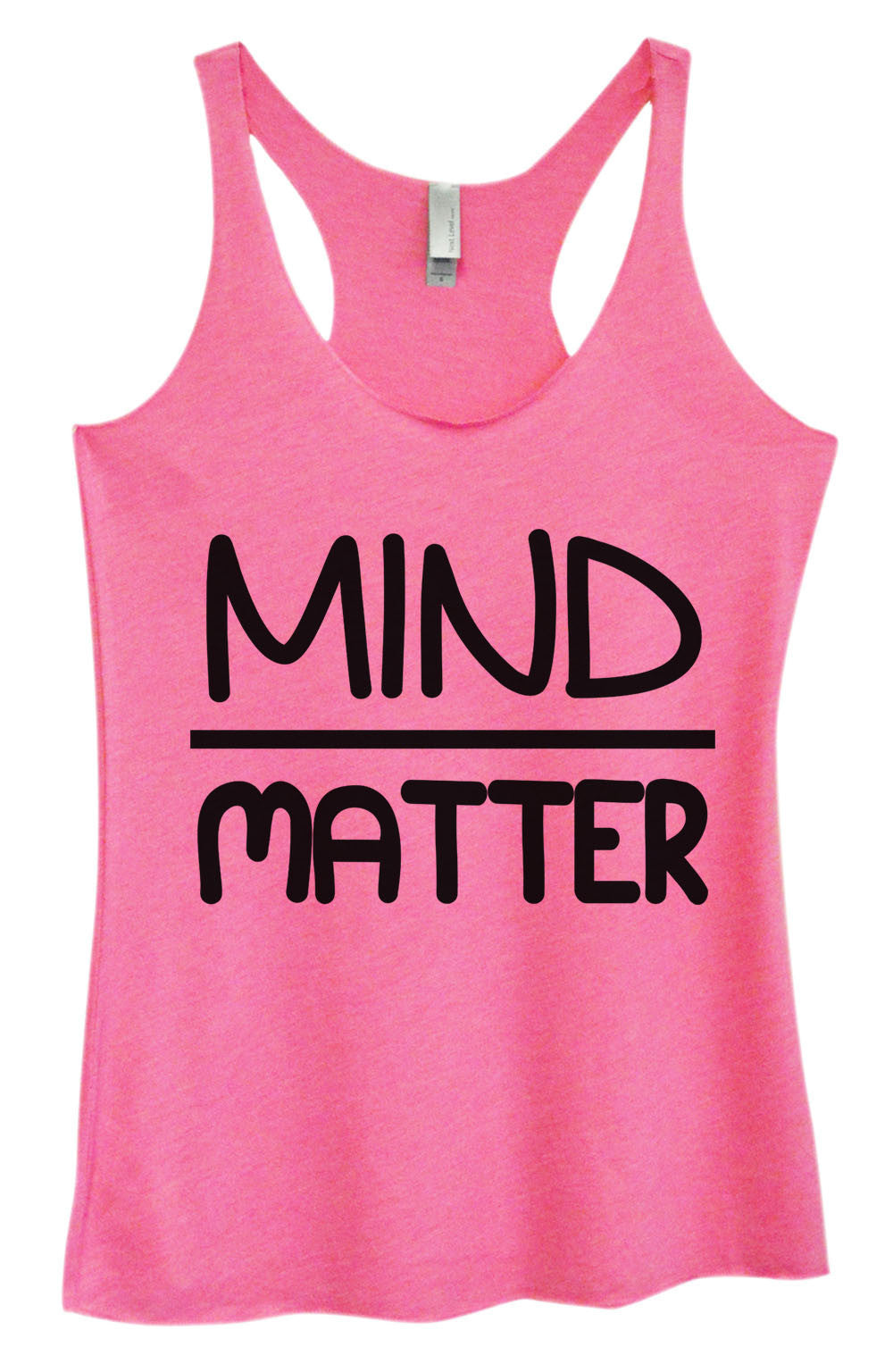 Womens Fashion Triblend Tank Top - Mind Matter - Tri-655 - Funny Shirts Tank Tops Burnouts and Triblends  - 4