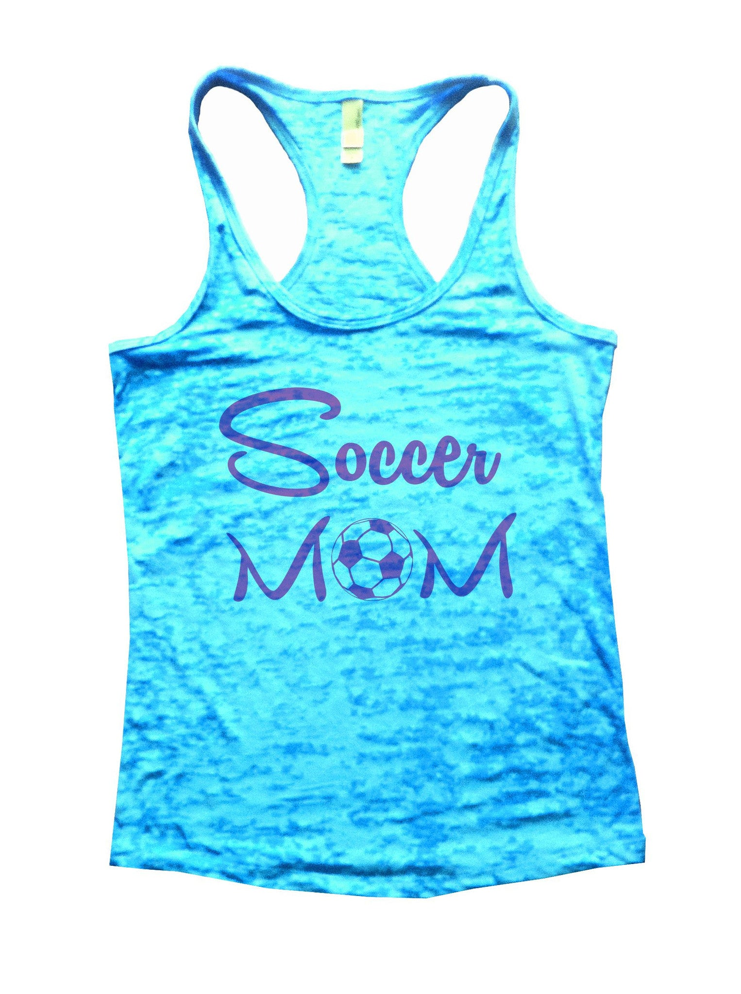 Soccer Mom Burnout Tank Top By BurnoutTankTops.com - 658 - Funny Shirts Tank Tops Burnouts and Triblends  - 4