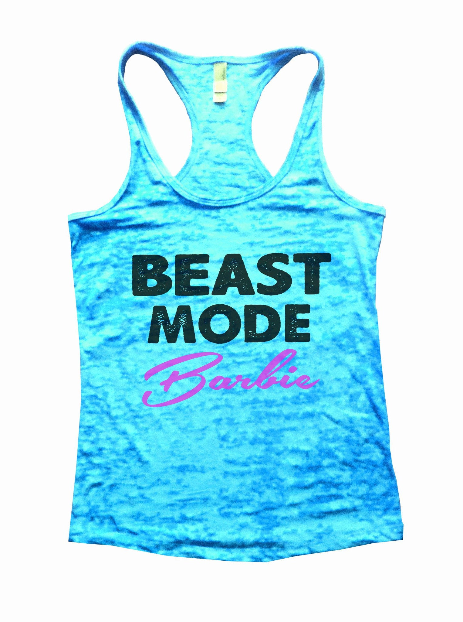 Beast Mode Barbie Burnout Tank Top By BurnoutTankTops.com - 668 - Funny Shirts Tank Tops Burnouts and Triblends  - 3