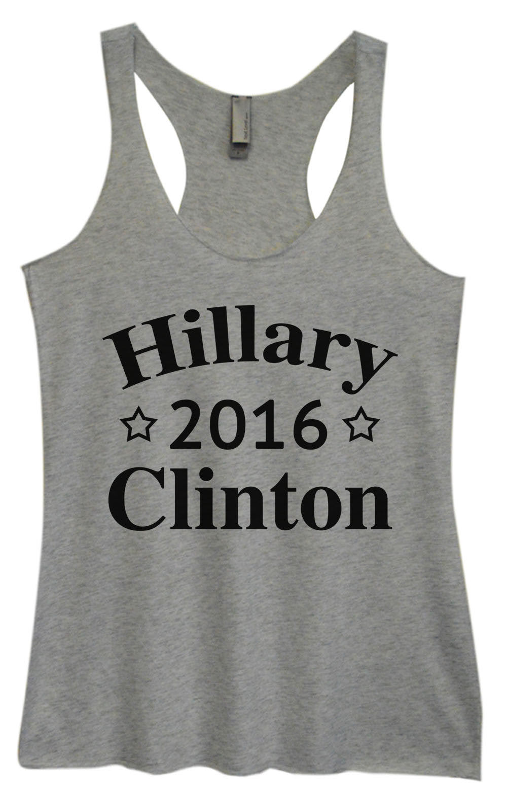Womens Fashion Triblend Tank Top - Hillary 2016 Clinton - Tri-669 - Funny Shirts Tank Tops Burnouts and Triblends  - 2