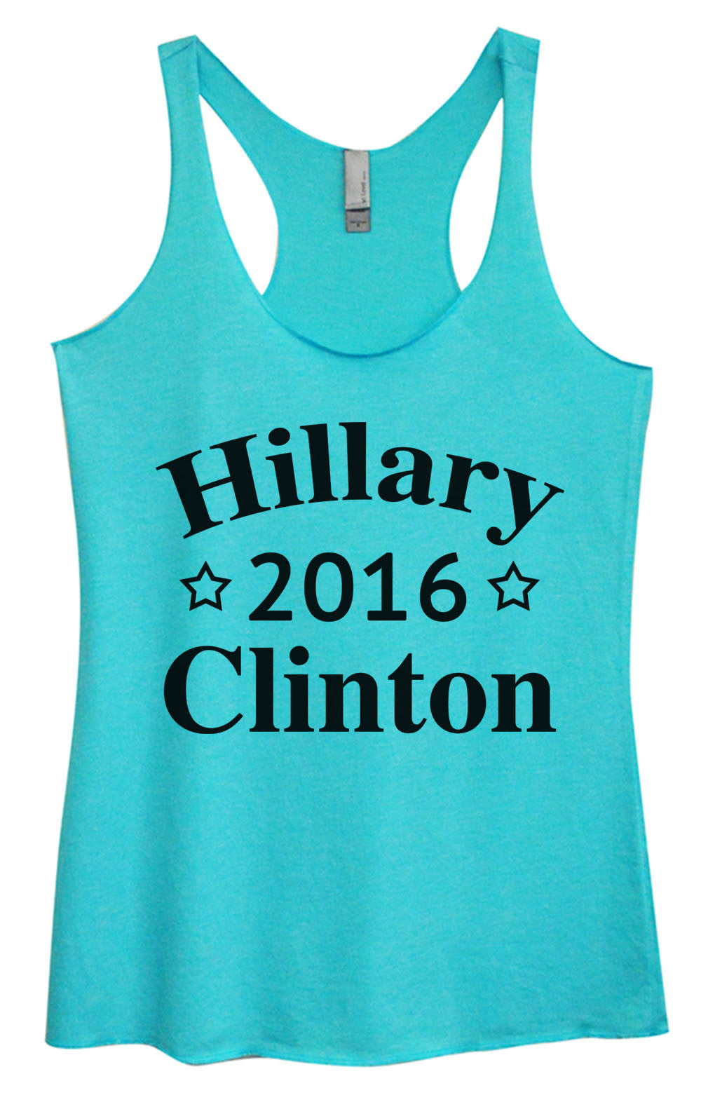 Womens Fashion Triblend Tank Top - Hillary 2016 Clinton - Tri-669 - Funny Shirts Tank Tops Burnouts and Triblends  - 1