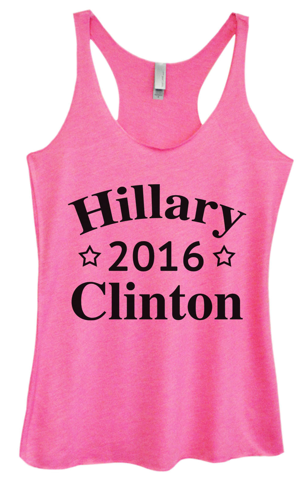 Womens Fashion Triblend Tank Top - Hillary 2016 Clinton - Tri-669 - Funny Shirts Tank Tops Burnouts and Triblends  - 3