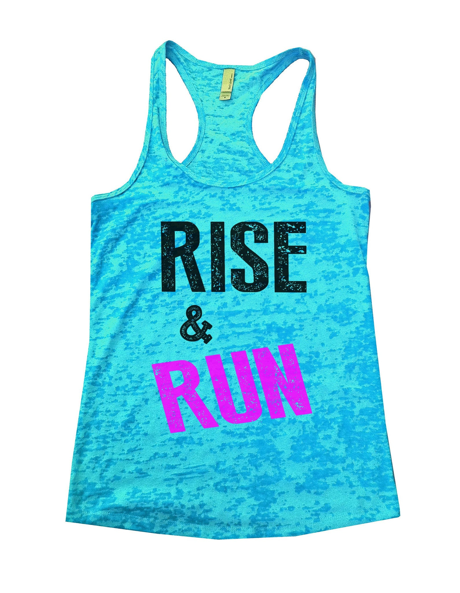 Rise & Run Burnout Tank Top By BurnoutTankTops.com - 672 - Funny Shirts Tank Tops Burnouts and Triblends  - 1