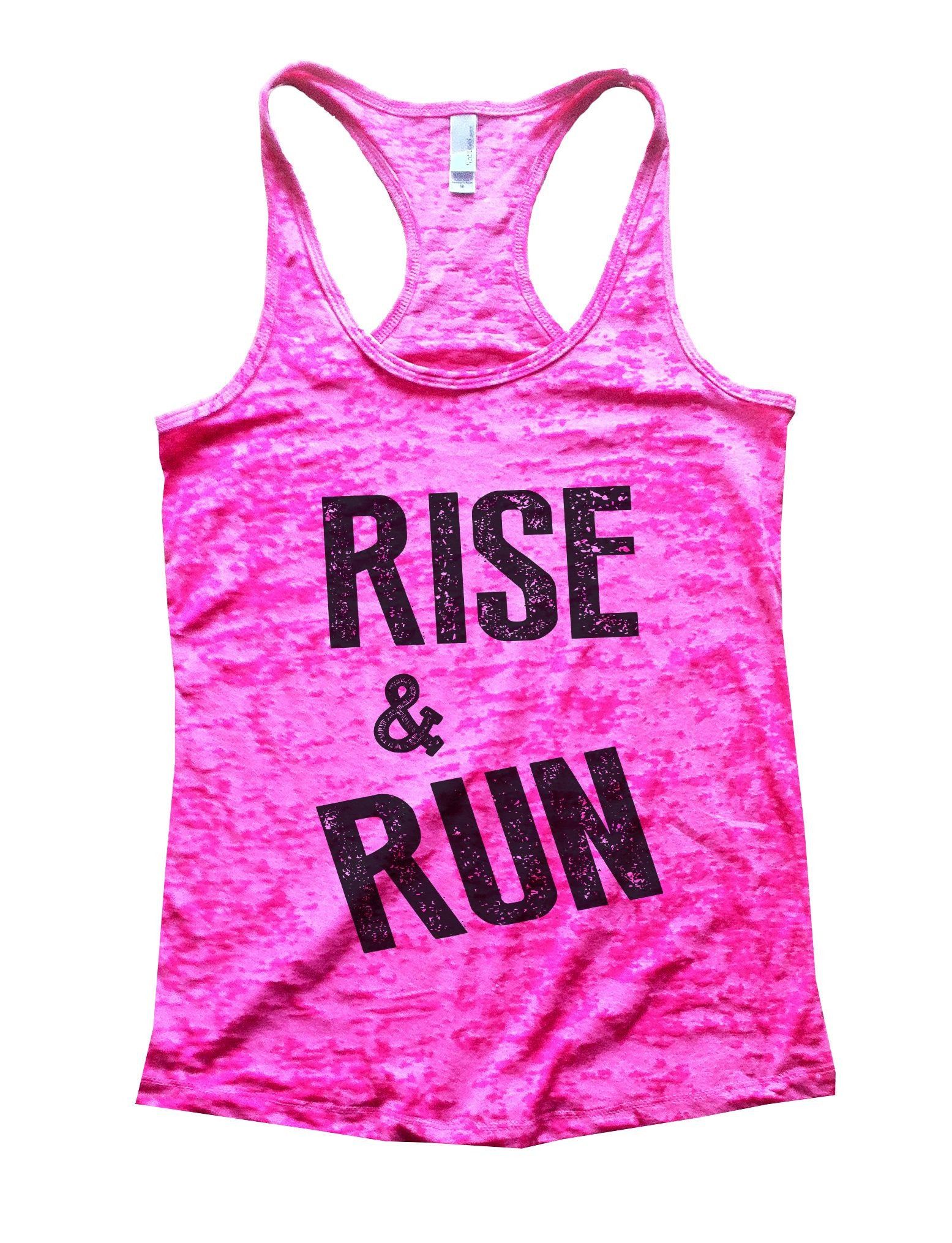 Rise & Run Burnout Tank Top By BurnoutTankTops.com - 672 - Funny Shirts Tank Tops Burnouts and Triblends  - 3