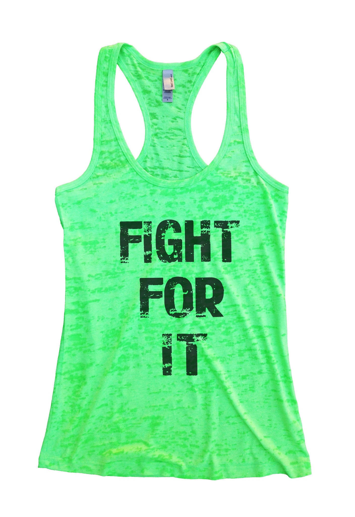 Fight For It Burnout Tank Top By BurnoutTankTops.com - 689 - Funny Shirts Tank Tops Burnouts and Triblends  - 4