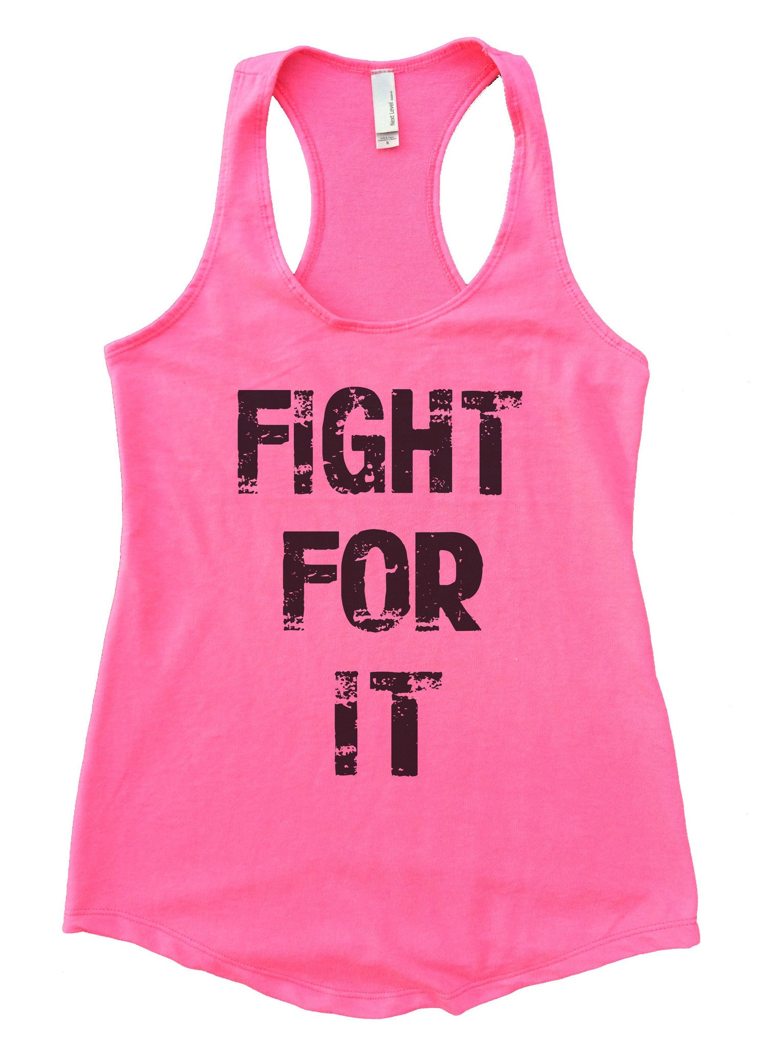 Fight For It Womens Workout Tank Top F689 - Funny Shirts Tank Tops Burnouts and Triblends  - 3