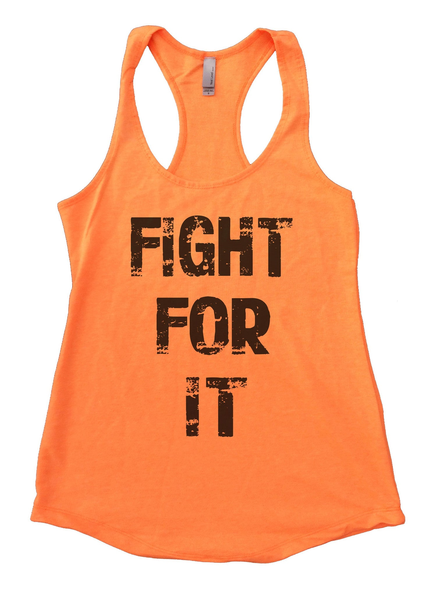 Fight For It Womens Workout Tank Top F689 - Funny Shirts Tank Tops Burnouts and Triblends  - 6