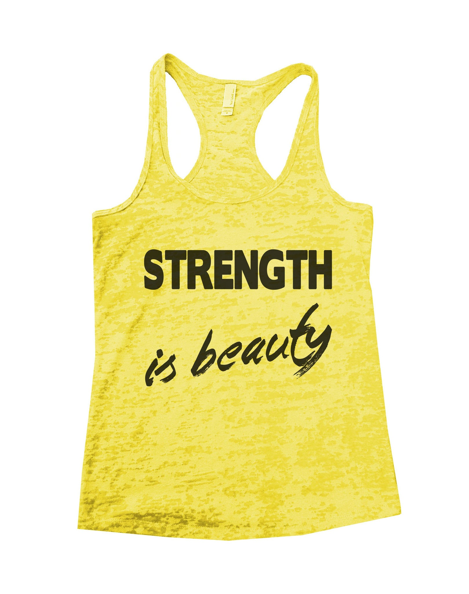 Strength Is Beauty Burnout Tank Top By BurnoutTankTops.com - 690 - Funny Shirts Tank Tops Burnouts and Triblends  - 4